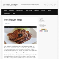 Pork Shogayaki Recipe