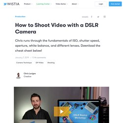 How to Shoot Video with a DSLR Camera - Wistia Blog