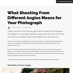 What Shooting From Different Angles Means for Your Photograph