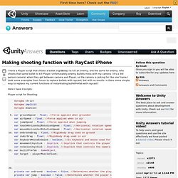 Making shooting function with RayCast iPhone