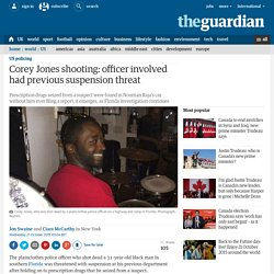 Corey Jones shooting: officer involved had previous suspension threat