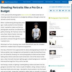 Shooting Portraits like a Pro On a Budget