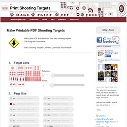 Shooting Targets - Make Your Own, Print PDF - Practice Shooting Range Targets
