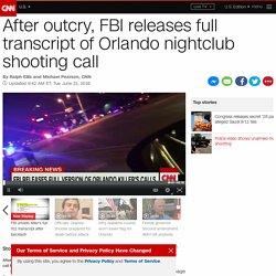 Orlando shooting 911 call: FBI releases full transcript