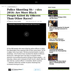 Police Shooting Statistics 2016: Are More Black People Killed By Officers Than Other Races?