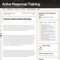 A Parent's Guide to School Shootings | Active Response Training