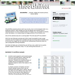 shootShifter 1.1.1 ... redate and rename folders of images on a Mac.