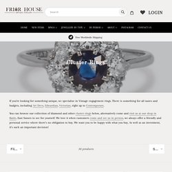 Shop Cluster Rings at Friar House