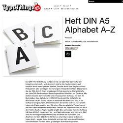 Shop - Heft DIN A5 Alphabet A–Z