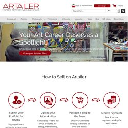 Shop Online Art galleries - Artailer.ca