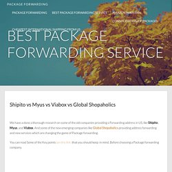 Forwarding Address - packageforwarding.info