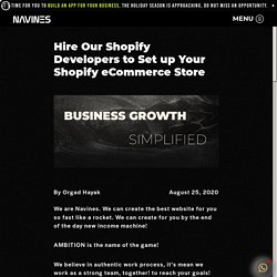 Hire Our Shopify Developers to Set up Your Shopify eCommerce Store