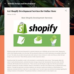 Find Out Top Shopify Development Services Company