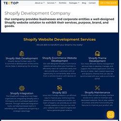 Shopify Website Development Services - Teqtop