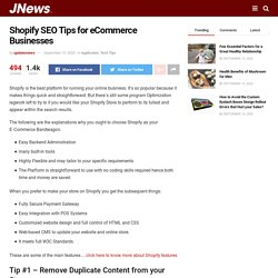Shopify SEO Tips for eCommerce Businesses