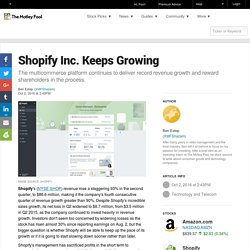 Shopify Inc. Keeps Growing