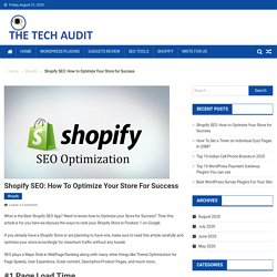 Shopify SEO: How to Optimize Your Store for Success