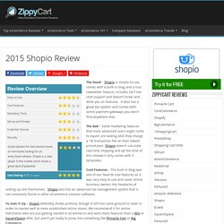 2015 Shopio Review - ZippyCart Reviews
