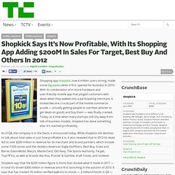 Shopkick Says It's Now Profitable, With Its Shopping App Adding $200M In Sales For Target, Best Buy And Others In 2012