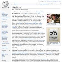 What is - Shoplifting / Co to - Kradzież sklepowa (