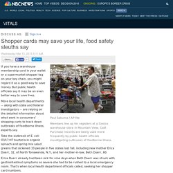 NBC NEWS 13/03/13 Shopper cards may save your life, food safety sleuths say