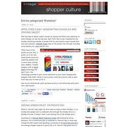 Shopper Culture: Promotion