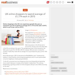 UK online shoppers to spend average of £1,174 each in 2015