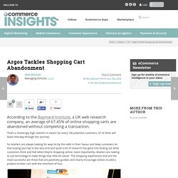 Argos Tackles Shopping Cart Abandonment - eCommerce Insights