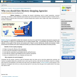 Why you should hire Mystery shopping Agencies