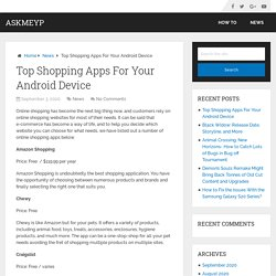 Top Shopping Apps For Your Android Device – AskMeYP