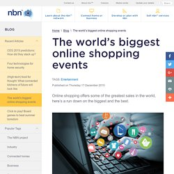 The world's biggest online shopping events