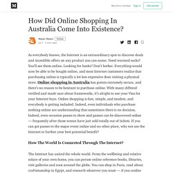How Did Online Shopping In Australia Come Into Existence?