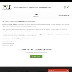 Shopping Cart - PME Online Shop