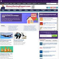 Money Saving Expert: Consumer Revenge - Credit Cards, Shopping, Bank Charges, Cheap Flights and more