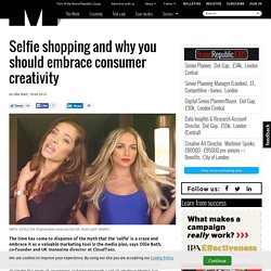 Selfie shopping and why you should embrace consumer creativity