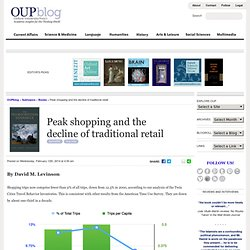 Peak shopping and the decline of traditional retail