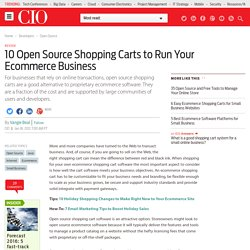 10 Open Source Shopping Carts to Run Your Ecommerce Business