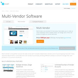 Multi-Vendor Shopping Cart Edition of CS-Cart Ecommerce Software Solution