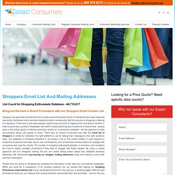 Shopping Enthusiasts Email List