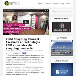 Kiabi Shopping Connect : Facebook et technologie RFID au service du shopping connecté