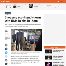 Shopping eco-friendly jeans with H&M Denim Re-born