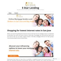 Shopping for lowest interest rates in San Jose