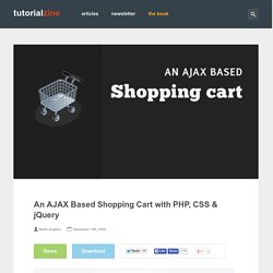 An AJAX Based Shopping Cart with PHP, CSS & jQuery