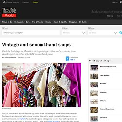 Shopping Madrid: Vintage and second-hand shops