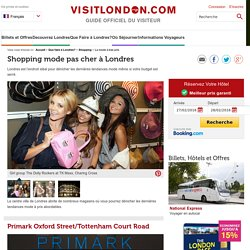 Shopping mode pas cher à Londres - Que Faire à Londres?