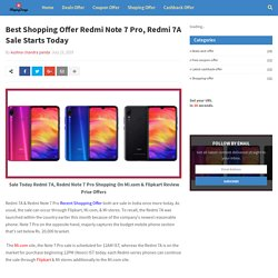 Best Shopping Offer Redmi Note 7 Pro, Redmi 7A Sale Starts Today