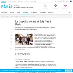 Shopping Duty-free à Paris – Office de tourisme Paris