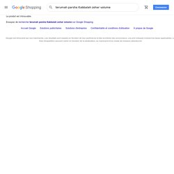 terumah parsha Kabbalah zohar volume - GoogleShopping