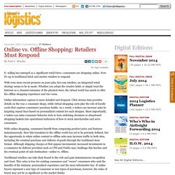 Online vs. Offline Shopping: Retailers Must Respond