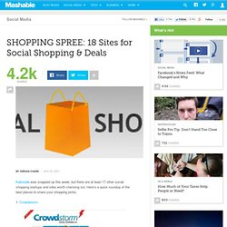 SHOPPING SPREE: 18 Sites for Social Shopping & Deals
